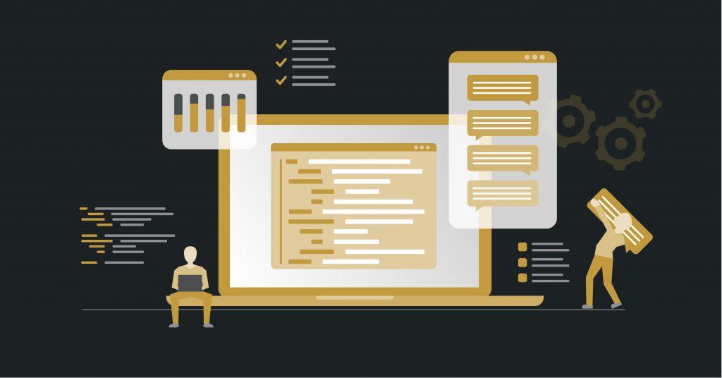 Screenshot of software development