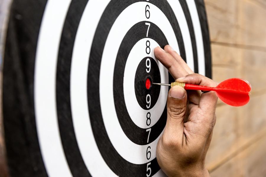 Arrow is in center of target